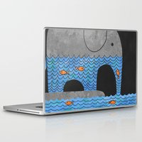 whimsical Laptop & iPad Skins featuring Thirsty Elephant  by Terry Fan