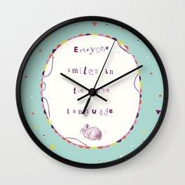 Smile Language Wall Clock