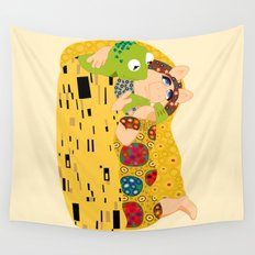 Klimt muppets Wall Tapestry