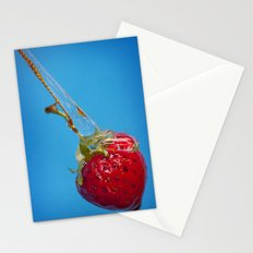 Strawberry and Syrup Stationery Cards