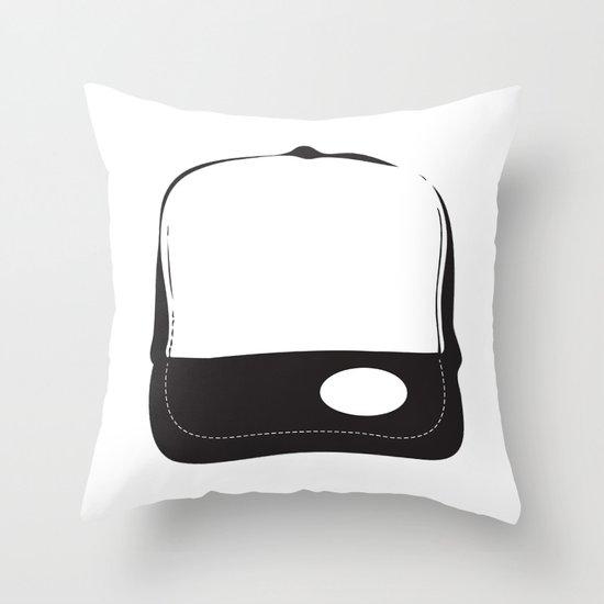 No Logo Cap Throw Pillow