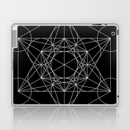 Metatron's Cube Black & White Laptop & iPad Skin