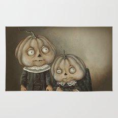 Rucus Studio Ghoul Kids Pumpkins Rug