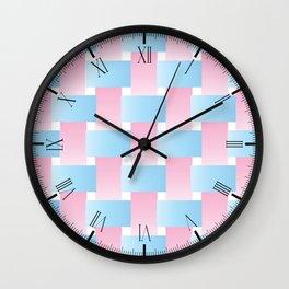 Pastel Lattice Background Wall Clock