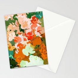 Velvet Floral, Summer Eclectic Botanical Blossom Blush Painting, Nature Colorful Garden Illustration Stationery Cards