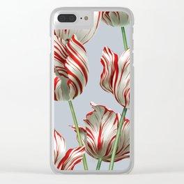 Semper Augustus Tulips Clear iPhone Case
