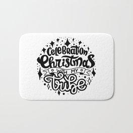 Celebration Christmas with my Tribe, Christmas Gift Idea Bath Mat