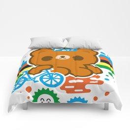 CycleBear - champignon du monde Comforters