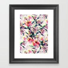RPE Floral Glitch Framed Art Print