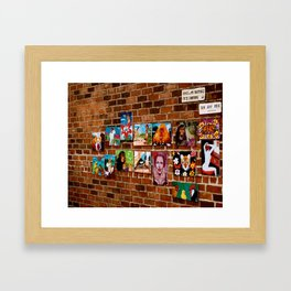 Brick Wall Art Framed Art Print