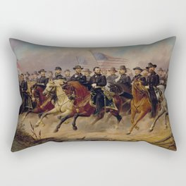 Grant and His Generals Painting Rectangular Pillow