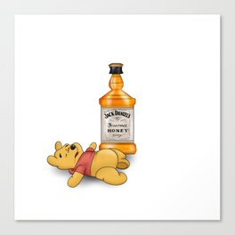 Pooh's Honey Trouble Canvas Print