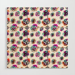 colorful fall floral Wood Wall Art
