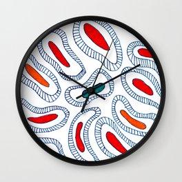 Fire Amoeba Wall Clock