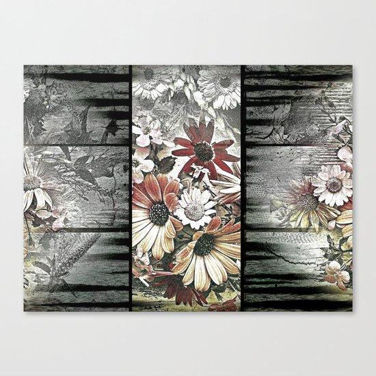 Fine floral flag Canvas Print