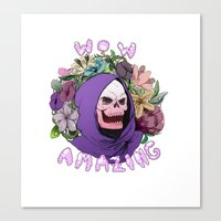 skeletor Canvas Prints featuring Skeletor by Gianna Meola