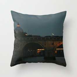 Bridges of Rome in the Evening Throw Pillow