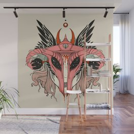 Shield Maiden Uterus & Ovary Helmet Wall Mural