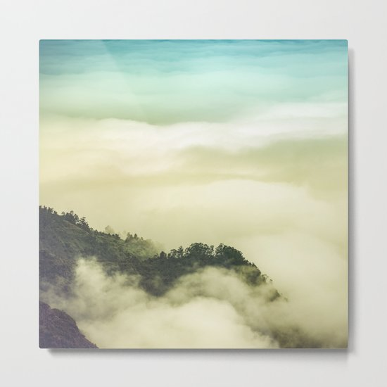 Over the clouds Metal Print