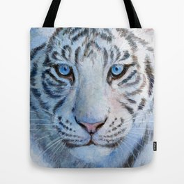 White Tiger Cub 852 Tote Bag
