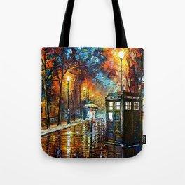 Tardis And Umbrella girl Tote Bag