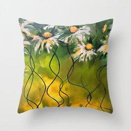 Dance Daisy Dance Throw Pillow