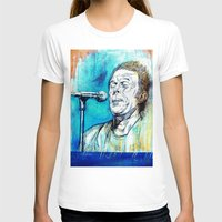 tom waits T-shirts featuring Blue Tom Waits by Mark Matlock