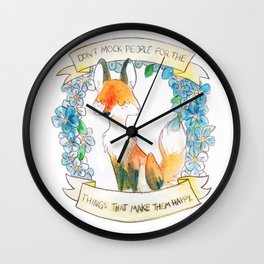How To Be A Decent Person - Fox Wall Clock
