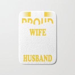 I m a proud Wife of freaking awesome Husband Bath Mat