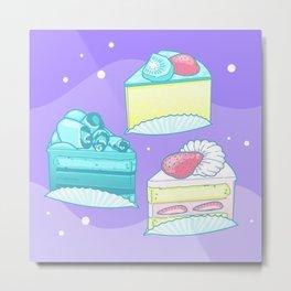 Sweet Cake Trio Metal Print