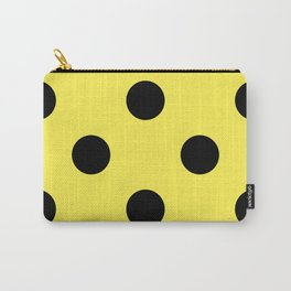 Giant Black and Lemon Yellow Polka Dot Pattern | Carry-All Pouch