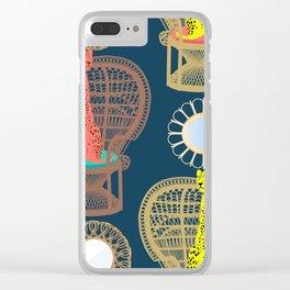 Rattan Cheetah Chairs + Mirrors Clear iPhone Case