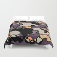 arya Duvet Covers featuring Abstract Digital Painting by Hinal Arya