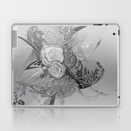 50 Shades of lace Silver Silver Laptop & iPad Skin