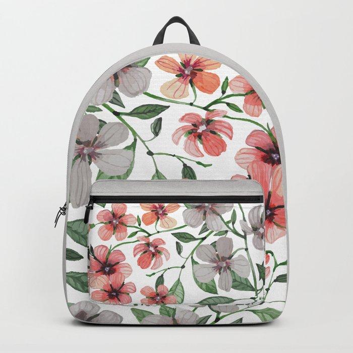 FLOWERS WATERCOLOR 12 Backpack