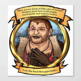 Varric the Mystery Writer Canvas Print