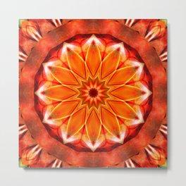 Mandala bitter orange Metal Print