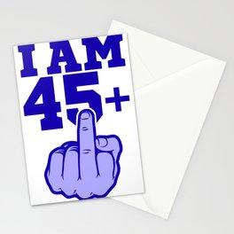 Middlefinger Up I'm 45th Birthday Gift Idea Stationery Cards