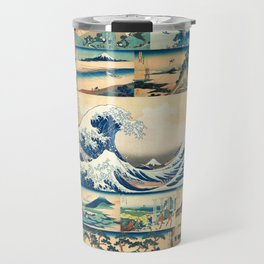 "Hokusai's ""The Great Wave"" and other Images from his Series ""Thirty-six Views of Mount Fuji"" Travel Mug"