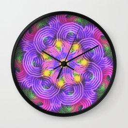 Purple Swirls Mandala Wall Clock