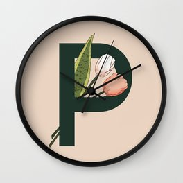 Letter P Wall Clock