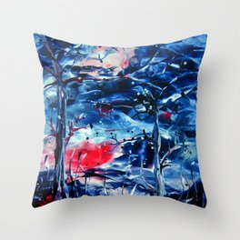 MoonNight Throw Pillow