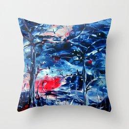 MoonNight Throw Pillow