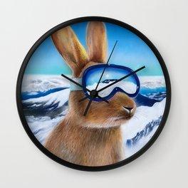 Ski Bunny Wall Clock