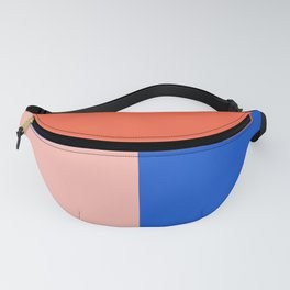 Blocked Coral Fanny Pack