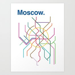 Moscow Transit Map Art Print