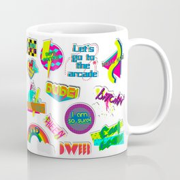 80's Sticker Collection Coffee Mug