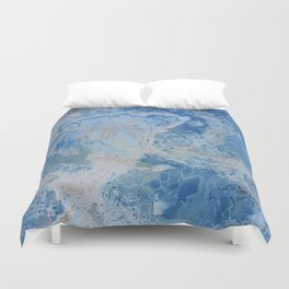 Blue Onyx Duvet Cover