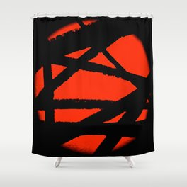 Captured Fireball Shower Curtain