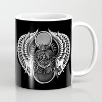 egyptian Mugs featuring Egyptian Scarab by BIOWORKZ